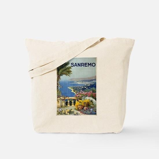 sanremo - anonymous - circa 1920 - poster Tote Bag