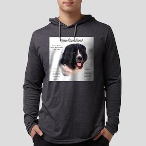 Newf (Landseer) Mens Hooded Shirt