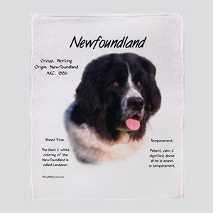 Newf (Landseer) Throw Blanket