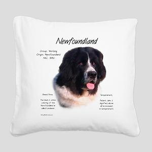 Newf (Landseer) Square Canvas Pillow