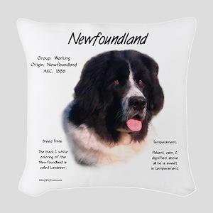 Newf (Landseer) Woven Throw Pillow