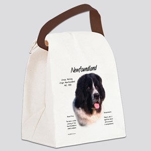 Newf (Landseer) Canvas Lunch Bag