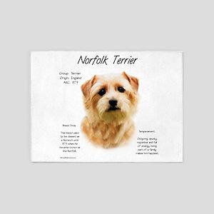 Norfolk Terrier 5'x7'Area Rug