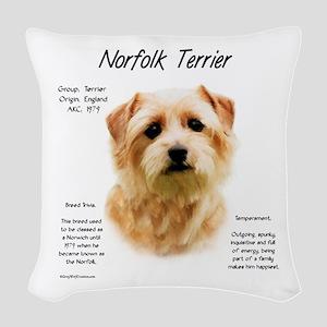 Norfolk Terrier Woven Throw Pillow