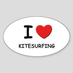 I love kitesurfing Oval Sticker