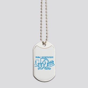 Personalized Mad Scientist Dog Tags
