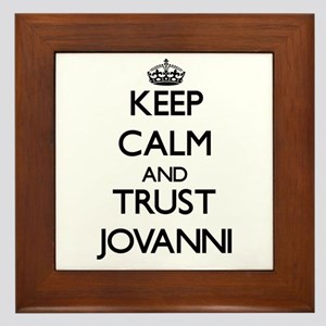 Keep Calm and TRUST Jovanni Framed Tile