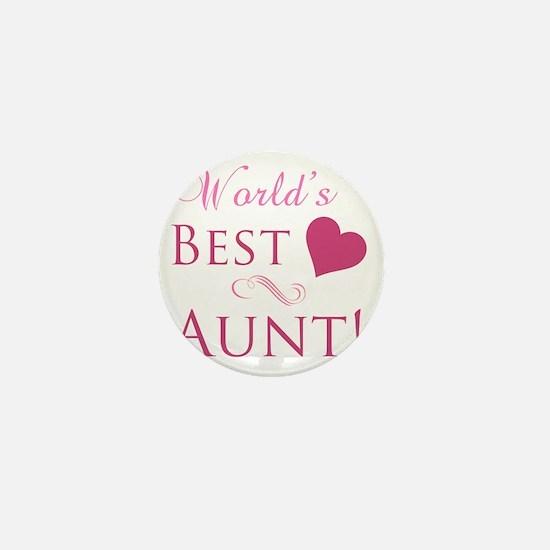 Worlds Best Aunt Mini Button