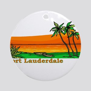 Fort Lauderdale, Florida Ornament (Round)