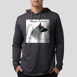 Norwegian Elkhound Mens Hooded Shirt