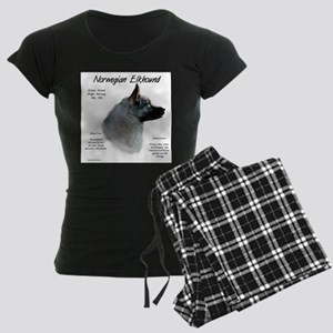 Norwegian Elkhound Women's Dark Pajamas