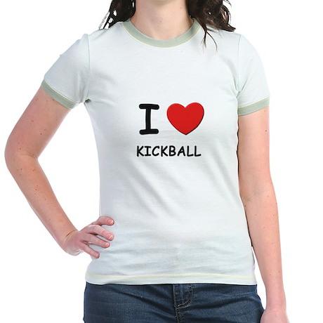 I love kickball Jr. Ringer T-Shirt
