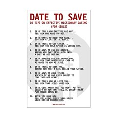 Date to Save 10 Tips Poster Print