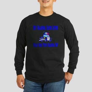 Police Saves Lives-Grandpa Long Sleeve Dark T-Shir