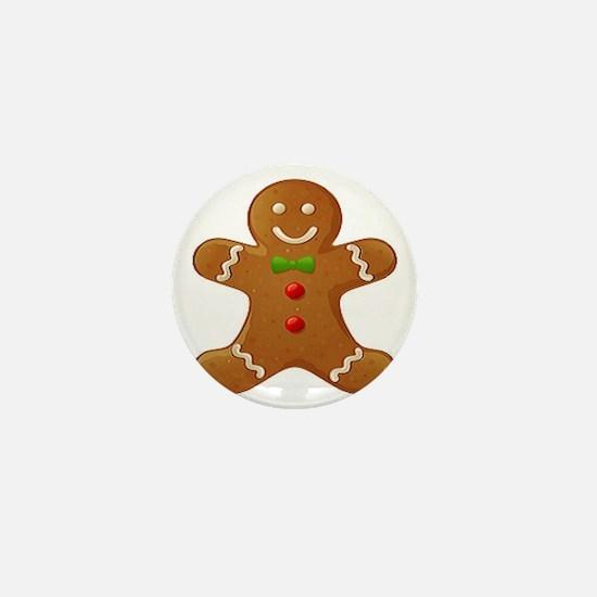 Gingerbread Man Mini Button