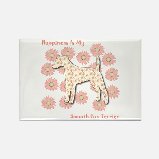 Foxie Happiness Rectangle Magnet (100 pack)