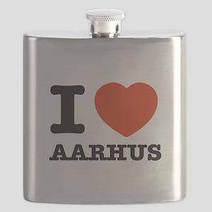 I LOVE AARHUS Flask