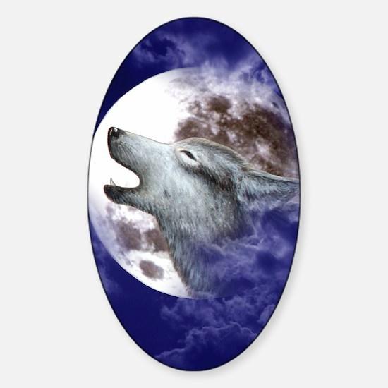 iPad 3 Folio_Moon Wolf Sticker (Oval)