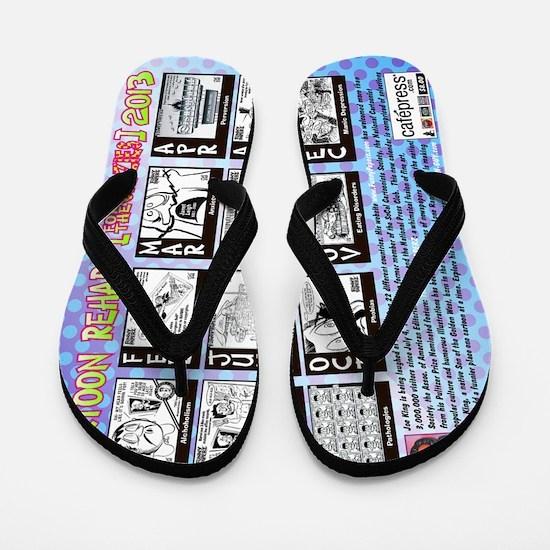 CARTOON REHAB [FOR THE CRAZIES] Flip Flops