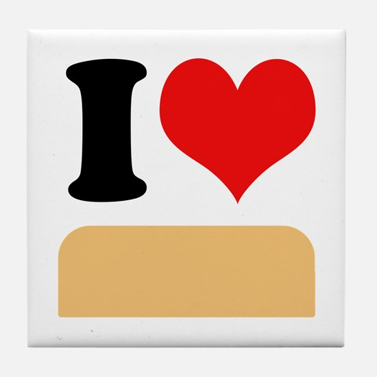 I heart twinkies Tile Coaster