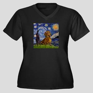TILE-Starry-Dachs1 Plus Size T-Shirt