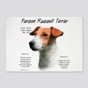 Parson Russell Terrier 5'x7'Area Rug