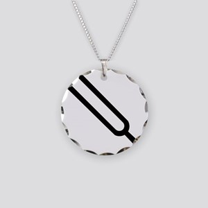 Tuning fork Necklace Circle Charm