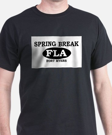 Spring Break Fort Myers, Flor T-Shirt