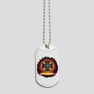 Personalized Fire and Rescue Dog Tags