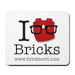 I (Nerd) Bricks Mousepad