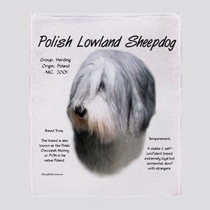 Polish Lowland Sheepdog Throw Blanket