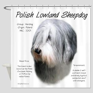 Polish Lowland Sheepdog Shower Curtain