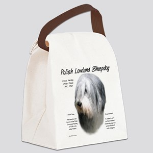 Polish Lowland Sheepdog Canvas Lunch Bag