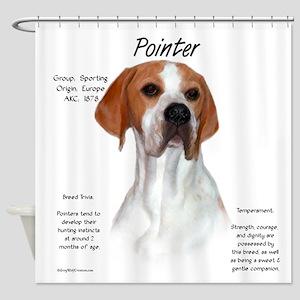 Pointer Shower Curtain