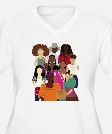 Brown Lady Collage T-Shirt