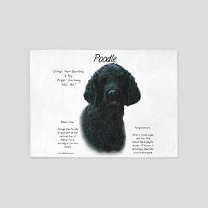 Poodle (black) 5'x7'Area Rug