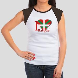 I love Basque Women's Cap Sleeve T-Shirt