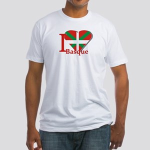 I love Basque Fitted T-Shirt