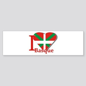 I love Basque Bumper Sticker