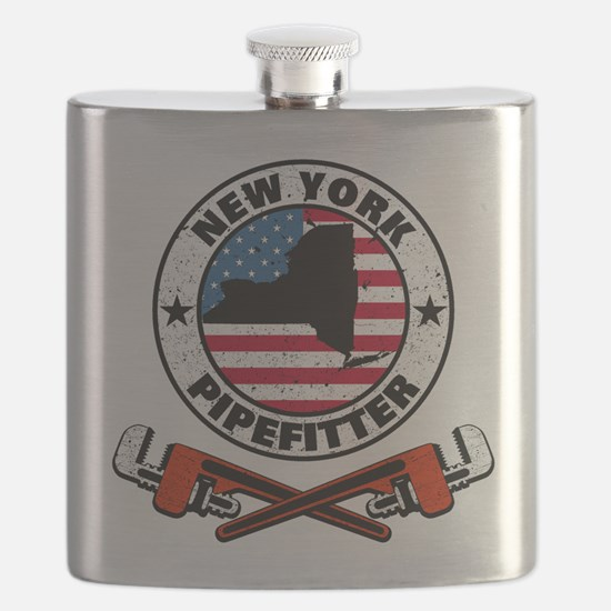 New York Pipefitter Flask