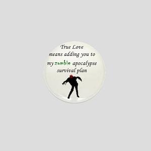 True Love Zombie Mini Button