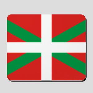 The Ikurriña, Basque flag Mousepad