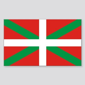 The Ikurriña, Basque flag Sticker (Rectangle)