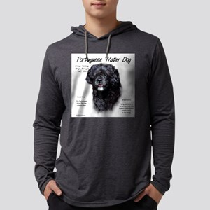 Portuguese Water Dog Mens Hooded Shirt