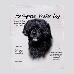 Portuguese Water Dog Throw Blanket