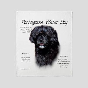 Portuguese Water Dog Throw Blanket
