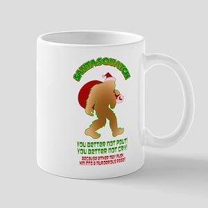 Sasquatch Santa Pout Cry Mugs