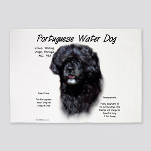 Portuguese Water Dog 5'x7'Area Rug