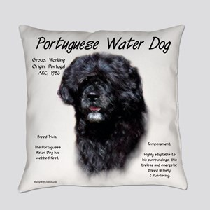 Portuguese Water Dog Everyday Pillow