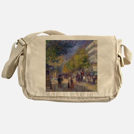 Unique Paintings of paris Messenger Bag